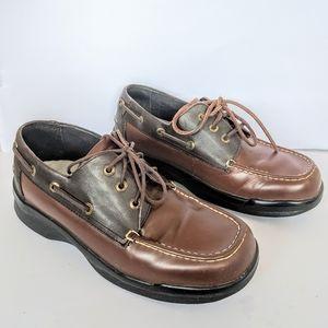 Men's Apex Biomechanical two tone boat shoes 9.5 W